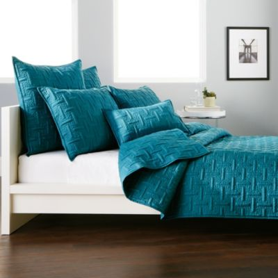 DKNY Crosstown Quilt in Teal