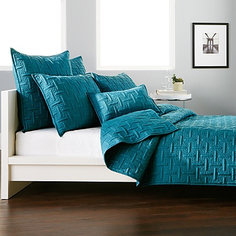 Dkny Crosstown Quilt In Teal Bed Bath Amp Beyond