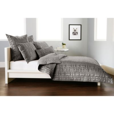 DKNY City Line Full/Queen Quilt in Grey
