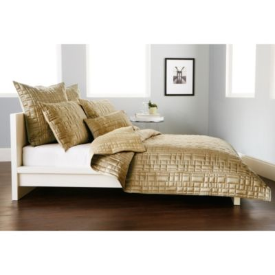 DKNY City Line Standard Pillow Sham in Gold