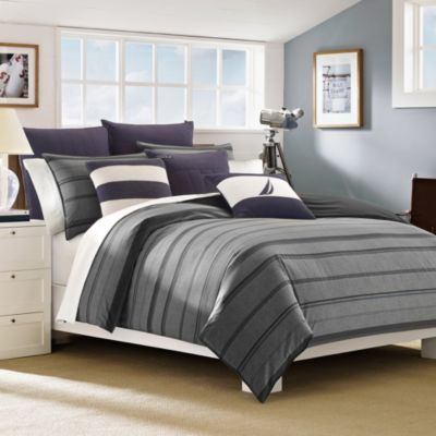 Nautica® Sebec King Duvet Cover Set in Grey/Multi