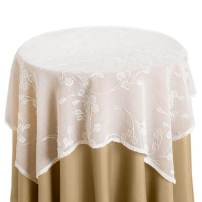 Woodbury 35-Inch Table Topper in Ivory
