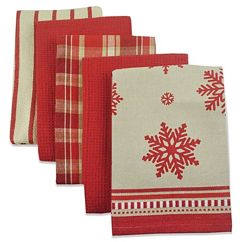 Holiday Kitchen Towel Set Of 5 Bed Bath Beyond