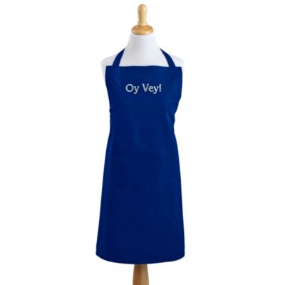 Oy Vey Apron in Bright Blue