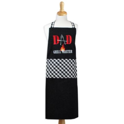 "Embroidered ""Dad Grill Master"" Apron"