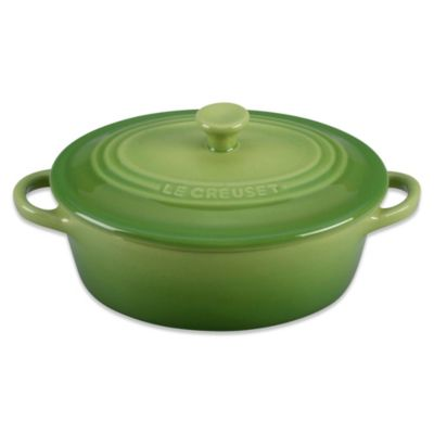 Le Creuset® 12 oz. Mini Oval Stoneware Cocotte in Palm