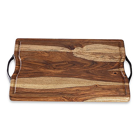 Real Simple® Sheesham Wood Cutting/Serving Board - BedBathandBeyond.com