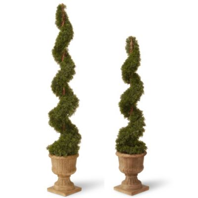 National Tree 48-Inch Cedar Spiral Plant in Urn