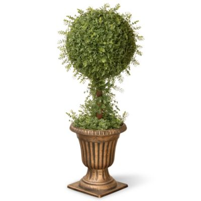 National Tree 36-Inch Mini Tea Leaf Ball Topiary Plant in Urn