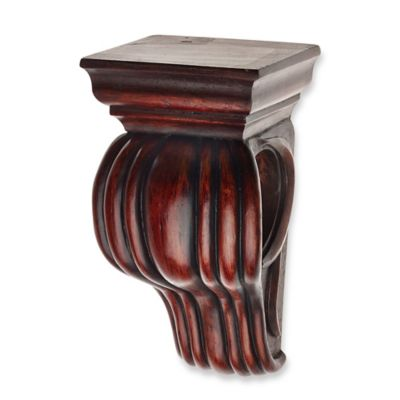 Cambria® Classic Wood Drapery Sconce in Cherry