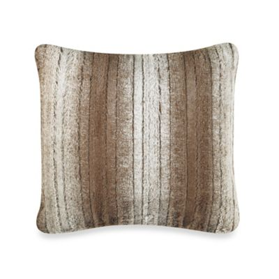 Sedona Berkshire Faux-Fur Square Throw Pillow