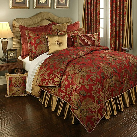 Austin Horn Classics Verona Duvet Cover In Red Gold Www