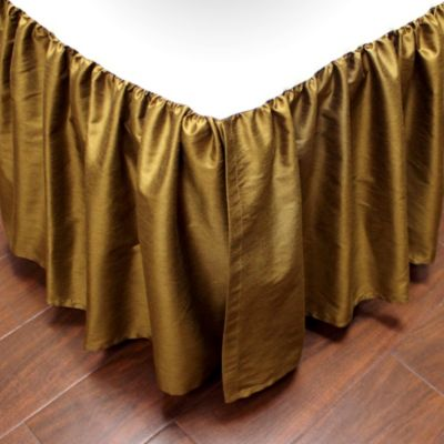 Verona California King Bed Skirt in Gold