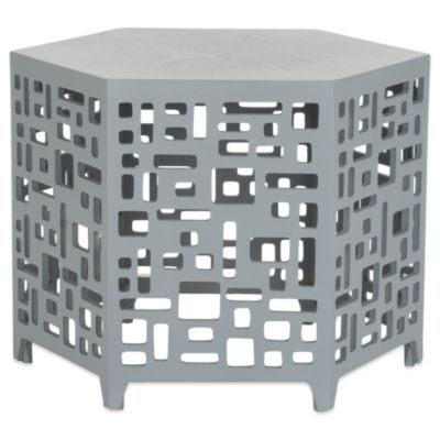 Safavieh Kelby End Table in Pearl/Taupe