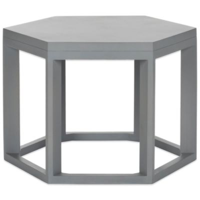 Safavieh Heidi End Table in Pearl Taupe