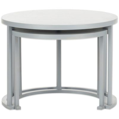Safavieh Chindler Nesting Tables in Charcoal Grey