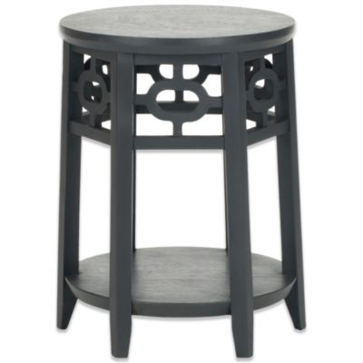 Safavieh Adela Side Table in Medium Grey