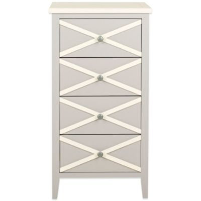 Safavieh Sherrilyn 4-Drawer Accent Table in Grey