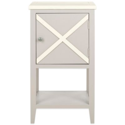 Safavieh Ward Side Table in Light Blue/White