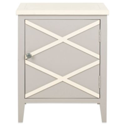 Safavieh Bernardo Side Cabinet in Grey/White