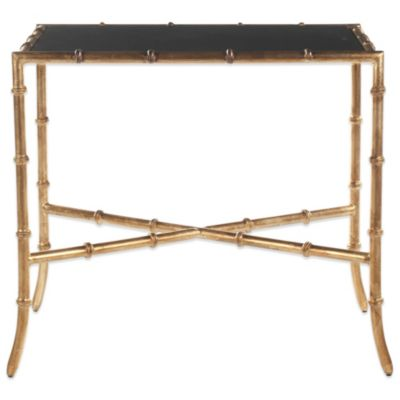 Safavieh Chandler Accent Table in Black/Gold