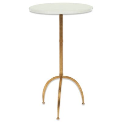 Safavieh Myrna Accent Table in Gold/White