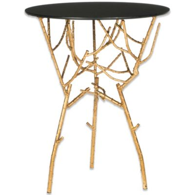 Safavieh Tara Accent Table in Gold/White
