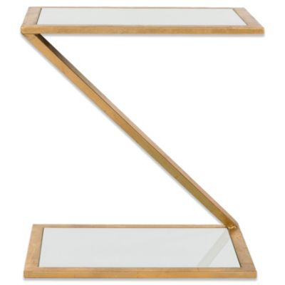 Safavieh Andrea Accent Table in Gold/White