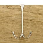 Stratford Series™ Satin Nickel Finish Over-the-Door Double Hook