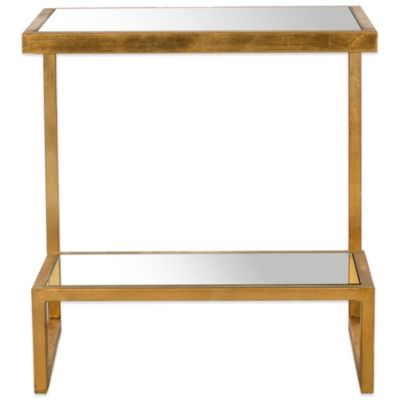 Safavieh Kennedy Accent Table in Gold/Mirror