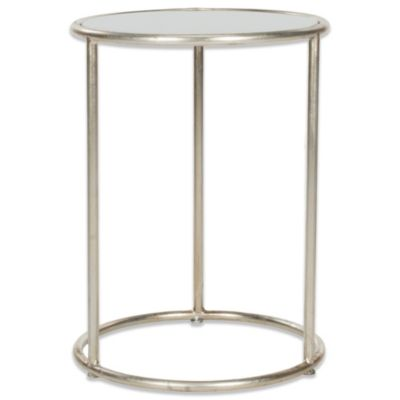 Safavieh Shay Accent Table in Silver/Grey