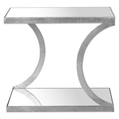 Safavieh Sullivan Accent Table in Silver/Mirror