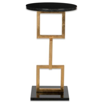 Safavieh Cassidy Accent Table in Gold/Black