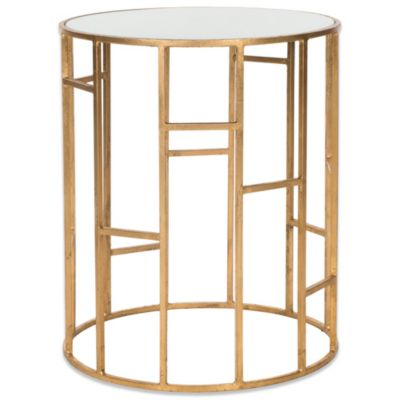 Safavieh Doreen Accent Table in Gold/White
