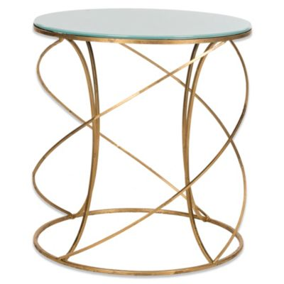 Safavieh Cagney Accent Table in Gold/White