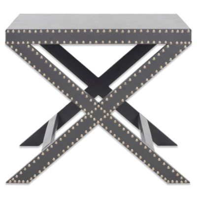 Safavieh Jeanine X End Table in Grey