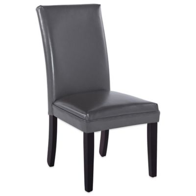 Bassett Mirror Company Presto Classic Parsons Kleen Seat Dining Chairs in Grey (Set of 2)