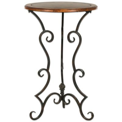 Safavieh Ruth Side Table in Dark Brown