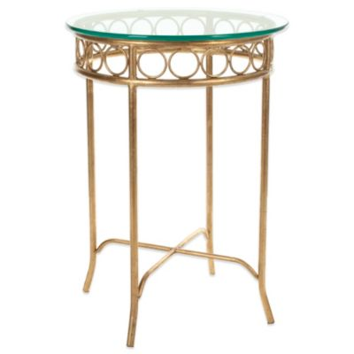 Safavieh Asa Accent Table in Gold