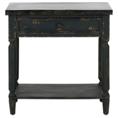 Black Wood Side Table