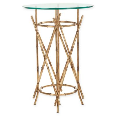 Safavieh Maria Accent Table in Gold