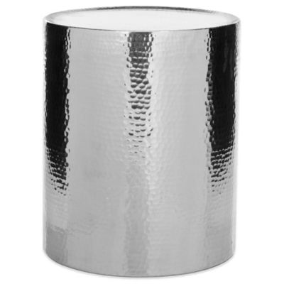Safavieh Polonium Occasional Hammered Table in Silver
