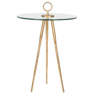 Safavieh Delma Accent Table in Gold