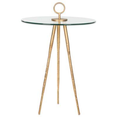 Safavieh Delma Accent Table in Gold