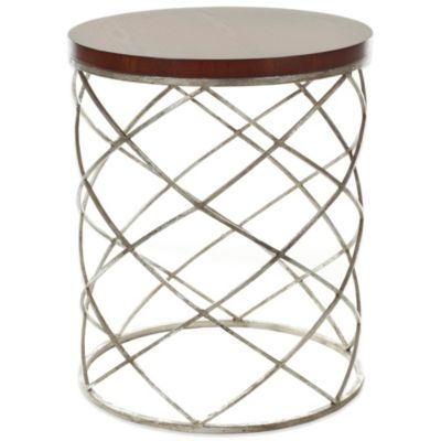 Safavieh Phoebe Accent Table in Silver