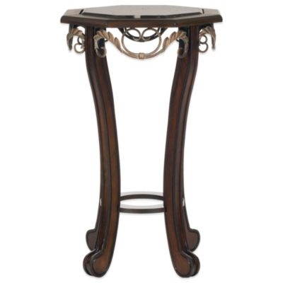 Safavieh Mildred Side Table in Dark Brown