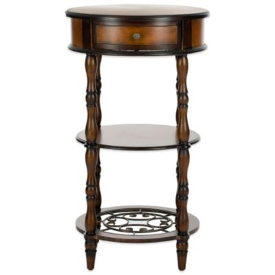 Safavieh Suzanne Side Table in Dark Brown