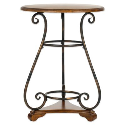 Safavieh Edith Side Table in Dark Brown