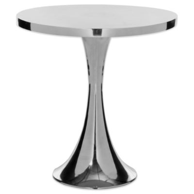 Safavieh Galium Aluminum Side Table in Silver