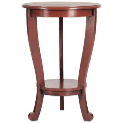 Safavieh Mary Pedestal Side Table in Red
